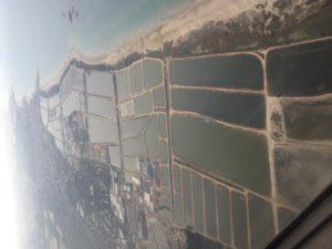 טיסה מעל בריכות הדגים של מעגן מיכאל