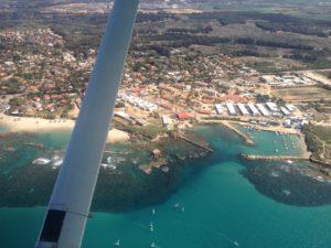 טיסה בססנה מעל חוף מכמורת