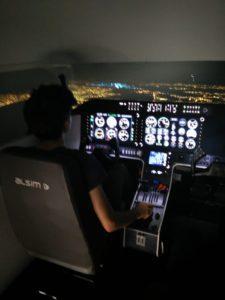 טיסת לילה בסימולטור טיסה מקצועי