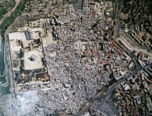 העיר העתיקה של ירושלים במבט מהאויר