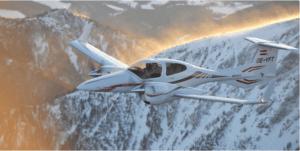 מטוס מדגם DA42 של חברת Diamond