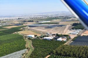 צילום מהאוויר של מנחת עין ורד