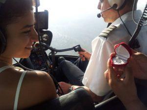 הצעת נישואין בטיסה רומנטית במסוק